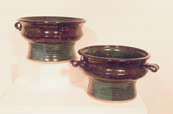 "Pedestal Bowls 7"" h x 10"" w BY CHRIS KING"