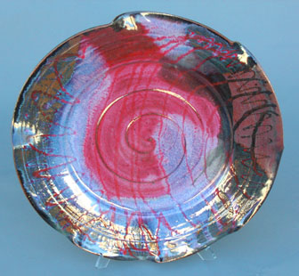 "Hanging Platter 20"" dia BY CHRIS KING"
