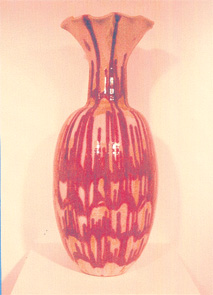 "Large Vase 33"" h BY CHRIS KING"